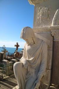 野外デッサン教室セートの眺めのいい墓地                           le cimetière marin à Sète - atelier cuisine  フランス ナント寄りのブルタ-ニュより うまさ直球のこだわりレシピ