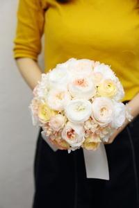 1dayプリザーブドレッスン9月29日花嫁さんの手作りブーケ - 一会 ウエディングの花