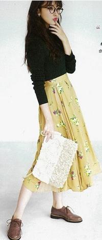 やっぱり可愛い!クラシカルな花柄が可愛すぎるスカート♪#シュープリームララ - *Ray(レイ) 系ほなみのブログ*