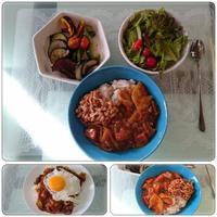 酢納豆カレーと餃子 - 気ままな食いしん坊日記2