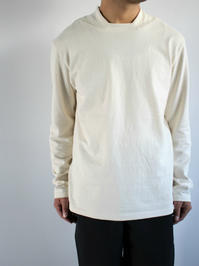 THE HINOKIOrganic Cotton Square Neck L/S Tee / Natural - 『Bumpkins putting on airs』