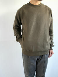 THE HINOKIOrganic Cotton Sweat Shirt / Forest - 『Bumpkins putting on airs』