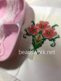 プラナカンビーズ刺繍 タイル図案 - プラナカンビーズ刺繍  ビーズワークと旅