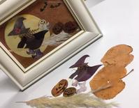 押し花で作るハロウィンの作品 - アトリエ・アキ