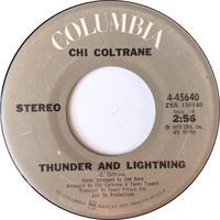 Chi Coltrane – Thunder And Lightning / Time To Come In - まわるよレコード ACE WAX COLLECTORS