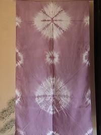 山葡萄の紫・シルクの和手ぬぐい - 自然からの贈り物/草木染め