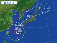 10月4日また台風 - さ・ん・ぽ道
