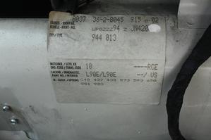"""ポルシェ944 カントリーコード""""C40""""の謎 (Vehicle Identification Labelを発見) - ポルシェ993RS & クレーマーK4(944)との日々 ~The Blue Water ~"""