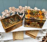 パリの蚤の市から新宿へ*金色の宝石箱とネコとスミレのティン缶 - BLEU CURACAO FRANCE