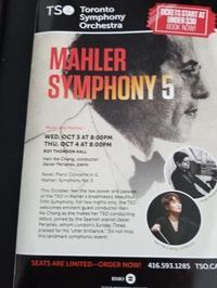 MAHLER SYMPHONY 5 - トロントに住む後期高齢者のひとり言