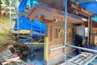 石雲寺様山門の袖塀 - 堂宮大工 内田工務店 棟梁のブログ
