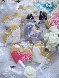 ウエディングのアイシングクッキー - nanako*sweets-cafe♪