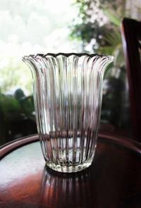 厚手ガラス花瓶8Hold(Okum10.5) - スペイン・バルセロナ・アンティーク gyu's shop