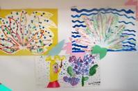 ヤツデを描く―転写、ブラッシング(コープ岩倉でミニ展覧会) - MORIのアトリエ便りin京都