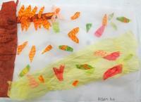 秋を感じて…秋色を探そう~(トレぺに貼り絵) - MORIのアトリエ便りin京都