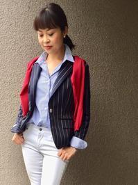 「ストライプジャケット」をどう着る?② - madameHのバラ色の人生