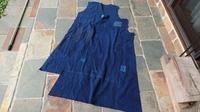 襤褸ジャンパースカート制作中 - 古布や麻の葉
