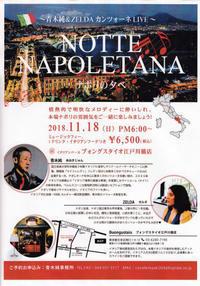 ナポリ娘とライブ<ナポリの夕べ>お知らせ - 青木純の歌う食べる恋をする