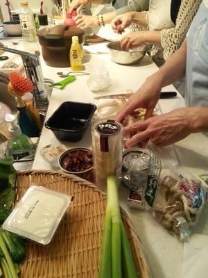久しぶりの料理教室籠盛り -