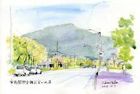 国際会館前宝ヶ池通と比叡山 - 風と雲