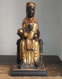 モンセラ修道院の黒い聖母子像  53.5cm   / F674 - Glicinia 古道具店