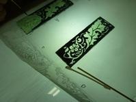 絵付けもスタート - atelier GLADYS  ステンドグラス工房 作り手の日々