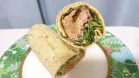 "「Orca」で「玄」さんのサラダラップ Salad wrap of vegan deli ""Gen"" at Orca - latina diary blog"