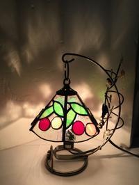 サクランボのミニランプ - Glass in