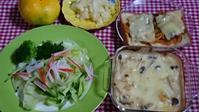 私のお昼ご飯(ランチ)とプチ作り置きです。(キノコのグラタン) -   心満たされる生活