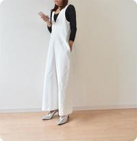 真っ白なコーディロイで2WAYサロペットを作りました - 親子お揃いコーデ服omusubi-five(オムスビファイブ)