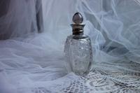 シルバー口クリスタル香水瓶52 - スペイン・バルセロナ・アンティーク gyu's shop