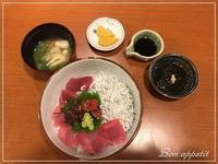 """""""和み酒 仁""""でマグロとシラスの丼@大阪/北新地 - Bon appetit!"""