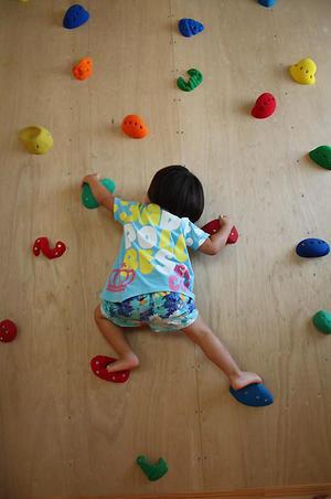 お家でボルダリング 「できるー!」 - 成長する家 子育て物語