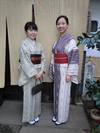 縦縞の柄が、大人っぽくて。 - 京都嵐山 着物レンタル&着付け「遊月」