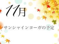 サンシャインヨーガ11月の予定 - Sunshine Places☆葛飾  ヨーガ、産後マレー式ボディトリートメントやミュージック・ケアなどの日々
