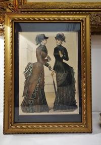 ファッション画入り木製金彩額814 - スペイン・バルセロナ・アンティーク gyu's shop