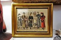 ファッション画入り木製金彩額816 - スペイン・バルセロナ・アンティーク gyu's shop