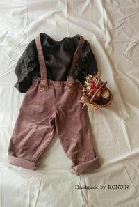 娘の秋服を作る。 - 子ども服と大人服 KONO'N