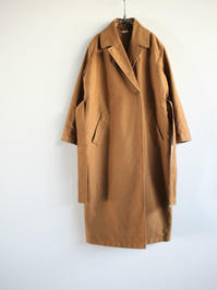 blurhmsExtra Cotton Heavy Moleskin Wrap Coat / Coyote (LADIES ONLY) - 『Bumpkins putting on airs』