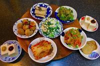 韓国風おかず(パンチャン)と和風おかずの小皿料理。うずら卵の麻薬たまご。 - キムチ屋修行の道