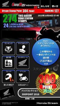 道の駅スタンプラリー300ポイント達成 - blog of hikkey