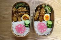 鶏のすっぱ煮焼き弁当とむぎ姫 - オヤコベントウ