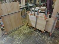 ミドルボードの接ぎ合わせ - 手作り家具工房の記録