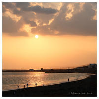 夕焼けの海 ** - かめらと一緒*