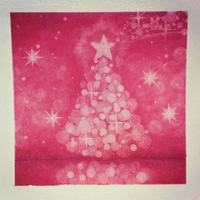 単色でクリスマスツリー - アトリエ絵くぼのパステルアート教室