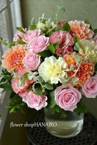 結婚記念日に♪パステルカラーのブーケ(花束)。 - 花色~あなたの好きなお花屋さんになりたい~