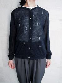 ZAKURA もみの狐刺繍カーディガン - suifu