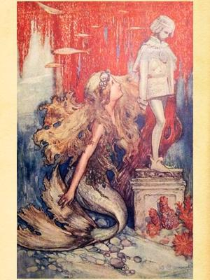 Golden Fairy Tales(1903)からのThe Little Mermaid - Books