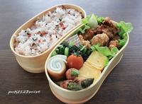 唐揚げ弁当 - 男子高校生のお弁当