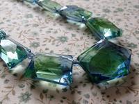 青と緑のバイ・カラーのガラスのネックレス -  Der Liebling ~蚤の市フリークの雑貨手帖2冊目~